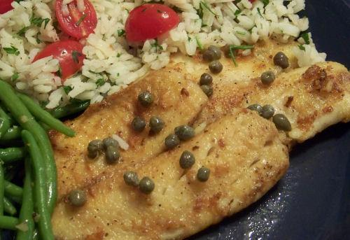 Tilapia Piccata. Photo by Mama's Kitchen (Hope)