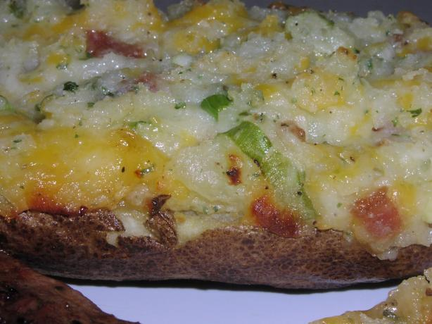 Bacon Cheddar Ranch Stuffed Baked Potatoes. Photo by TeresaS