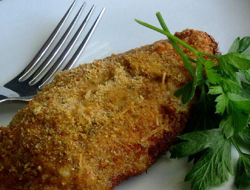 Oven-Fried Parmesan Chicken. Photo by Caroline Cooks