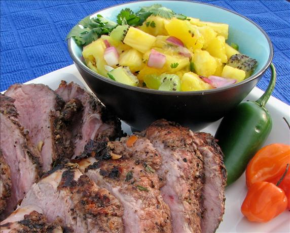 ... Jerk Pork Tenderloin And Pineapple Mango-Kiwi Salsa Recipe - Food.com