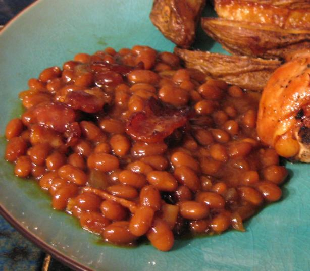 Bacon Baked Beans. Photo by breezermom