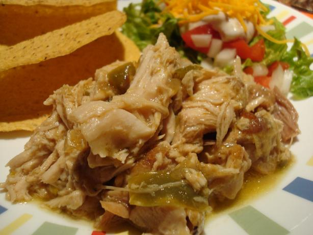 Chili Verde Pork in a Crock Pot. Photo by Starrynews
