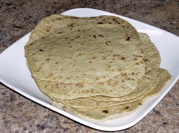 Homemade Spelt Flour Tortillas. Photo by Chef Joey Z.