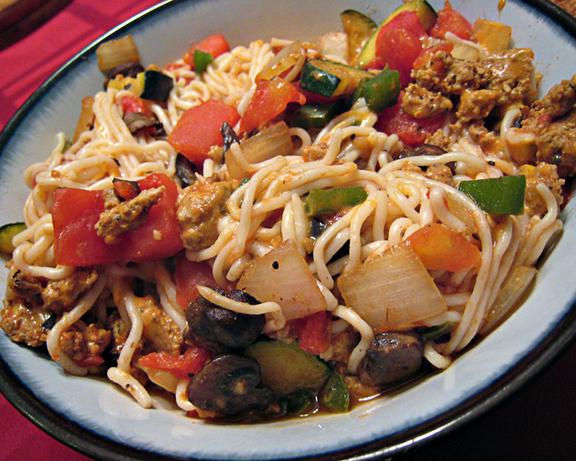 Southwestern-Style Pasta Skillet. Photo by yogiclarebear