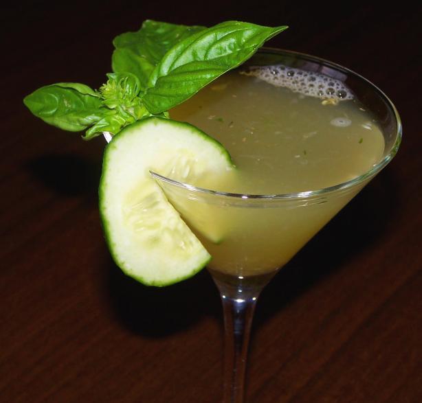 Cucumber Basil Martini Recipe