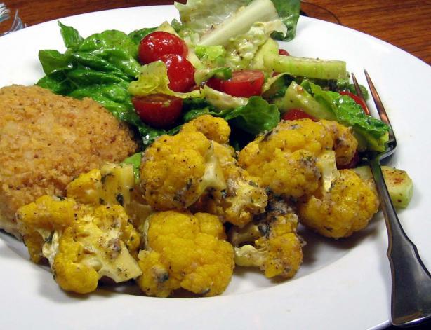 Parmesan Roasted Cauliflower. Photo by dianegrapegrower