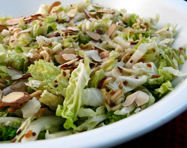 Napa Cabbage Salad With A Crunch Recipe - Food.com