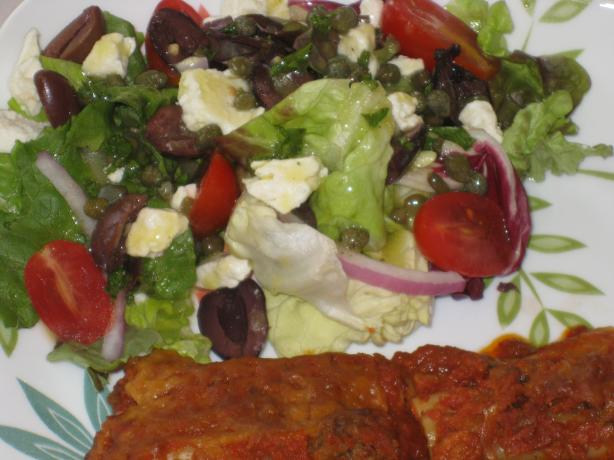 Mediterranean Salad With Lemon Caper Vinaigrette. Photo by FrenchBunny