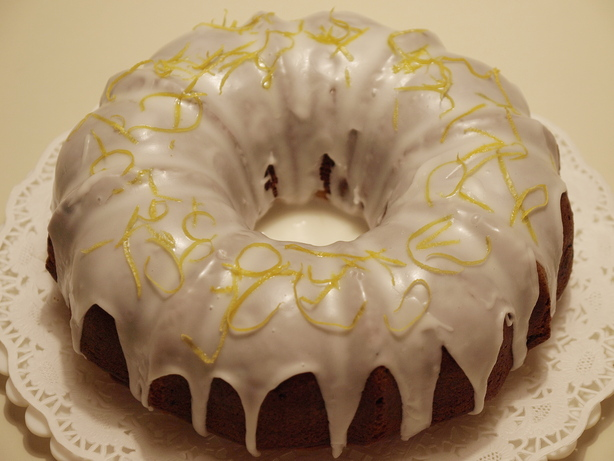 Lemon Glaze Pound Cake Drizzle