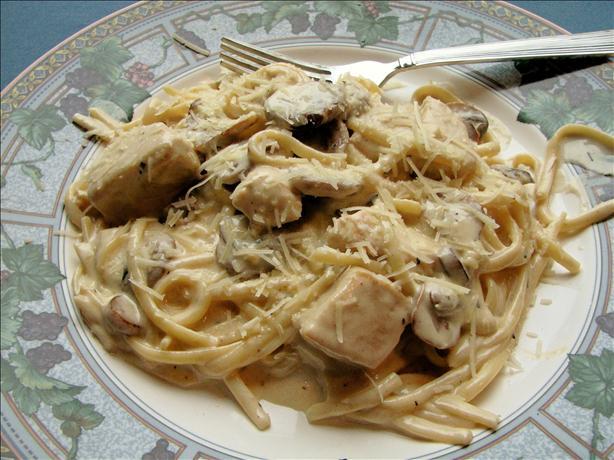how to make a mushroom alfredo sauce