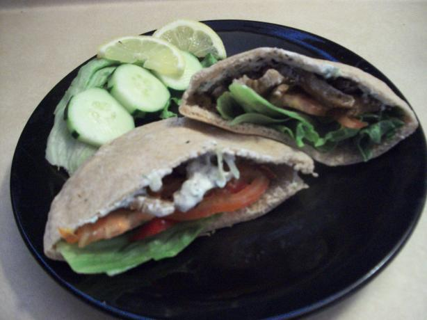 Vegan Seitan Gyro W Cucumber Sauce Recipe - Greek.Food.com