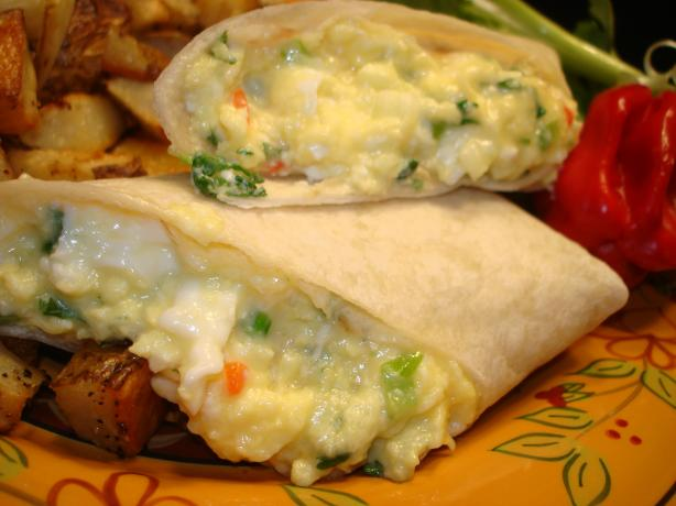Scrambled Egg Tortilla Wraps Aust Ww 5.5 Pts. Photo by Vicki in CT