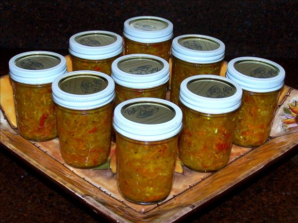 Sweet And Spicy Garden Relish Chow-Chow Recipe - Food.com