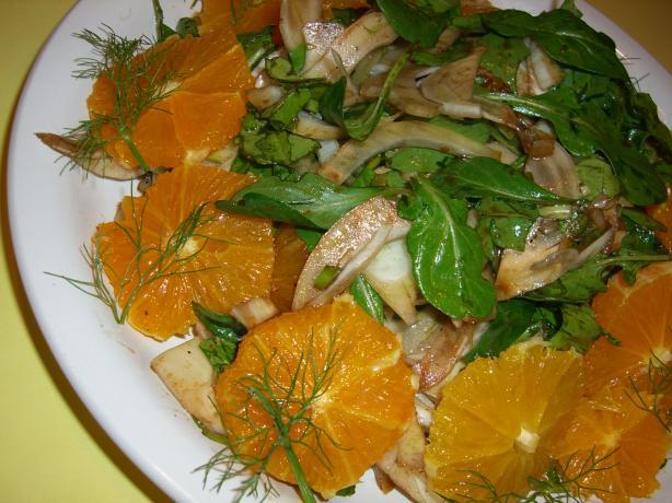 Arugula, Fennel and Orange Salad. Photo by Chef*Lee
