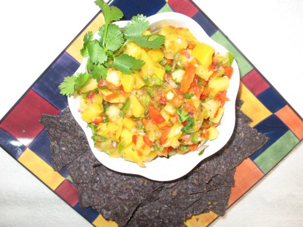 Sweet & Spicy Mango Pineapple Salsa. Photo by Chicagoland Chef du Jour