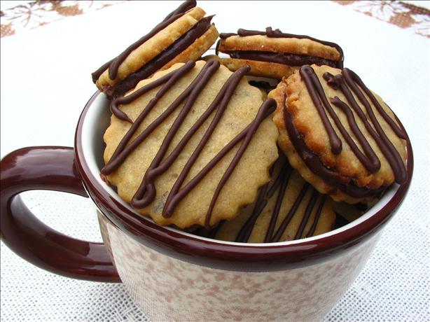 Chocolate Espresso Sandwich Cookies Recipe — Dishmaps