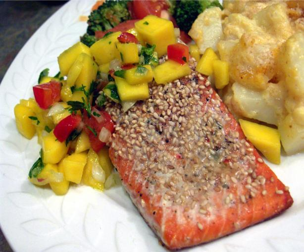 Baked Salmon With Mango Salsa Recipe - Food.com