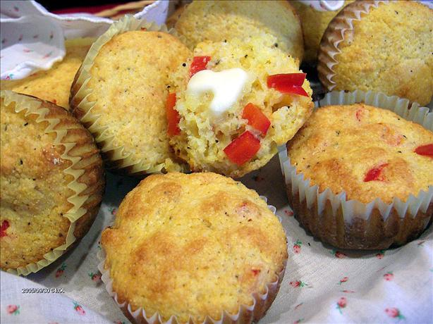 Corn Muffins With Sweet Red Peppers Recipe - Food.com