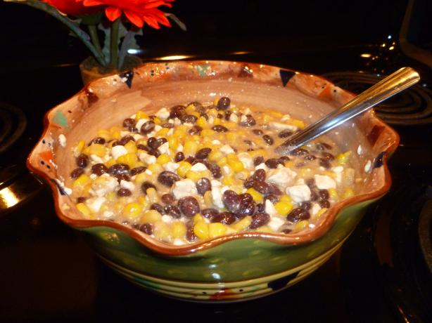 Corn and Black Bean Salsa With Feta Cheese. Photo by aukrista1