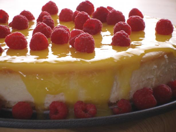 Goat Cheesecake With Lemon Curd And Raspberries By Bird) Recipe - Food ...