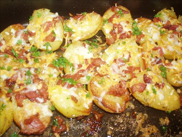 Roasted Potatoes With Bacon, Cheese, And Parsley Recipe — Dishmaps