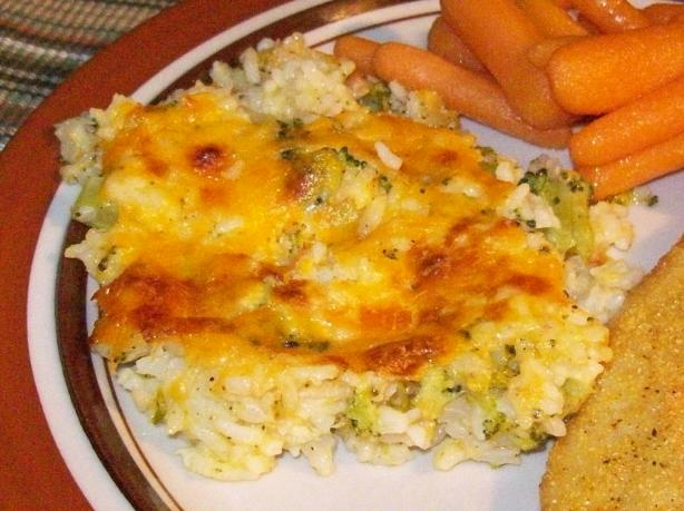 Broccoli Rice and Cheese Casserole. Photo by Chef shapeweaver