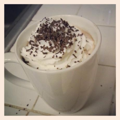 Real Peppermint Patty Hot Chocolate. Photo by CandyTX