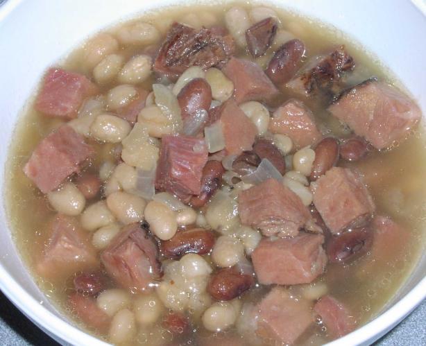 Bean Soup Real Navy Bean Soup. Photo by TeresaS