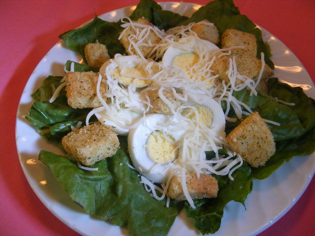 Crunchy Romaine Salad With Eggs And Croutons Recipe - Food.com