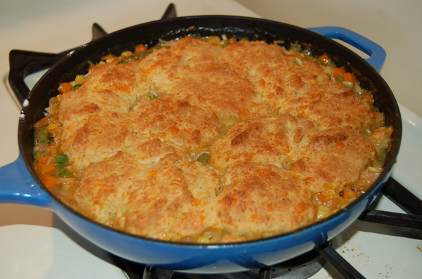 Turkey Pot Pie With Cheddar Biscuit Crust. Photo by Queen Dragon Mom