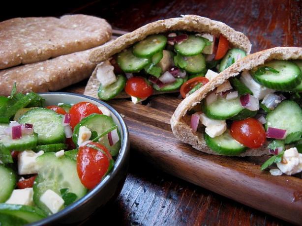 Greek Salad Pita Sandwiches. Photo by ms_bold