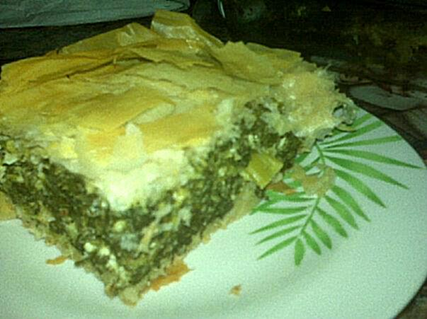 Spanakopita (Greek Spinach Pie). Photo by threeovens