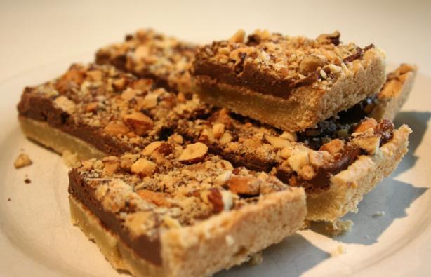 Mocha-Walnut Bars With Dark Chocolate Ganache. Photo by lilsweetie