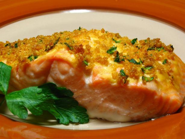 Baked Dijon Salmon. Photo by Breezytoo