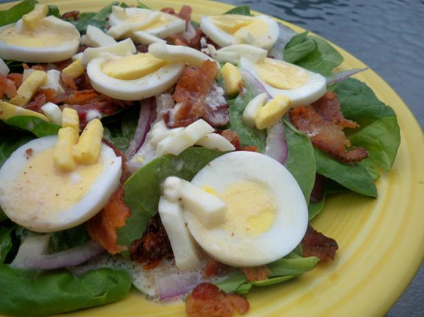 Spinach Salad With Warm Bacon Dressing. Photo by *Parsley*