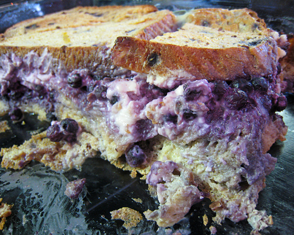 Blueberry Cream Cheese Stuffed Baked French Toast Recipe ...