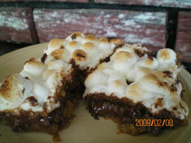 Warm Toasted Marshmallow S'more Bars (Cookie Mix). Photo by CoffeeB