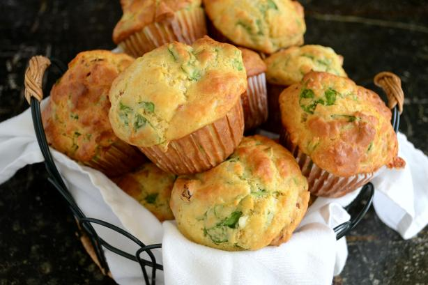 Muffins - Cheese, Spinach And Sun-Dried Tomatoes Recipe - Cheese