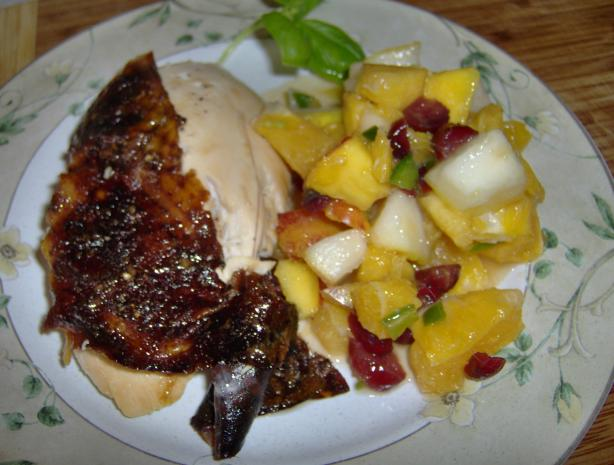 Roasted Chicken With Citrus Salsa (Low Fat). Photo by Benthe (Danish)