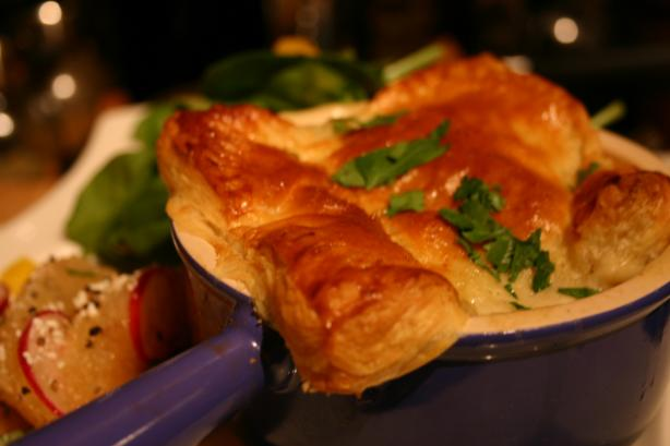 Individual Chicken Pot Pies With Puff Pastry Recipe - Food.com