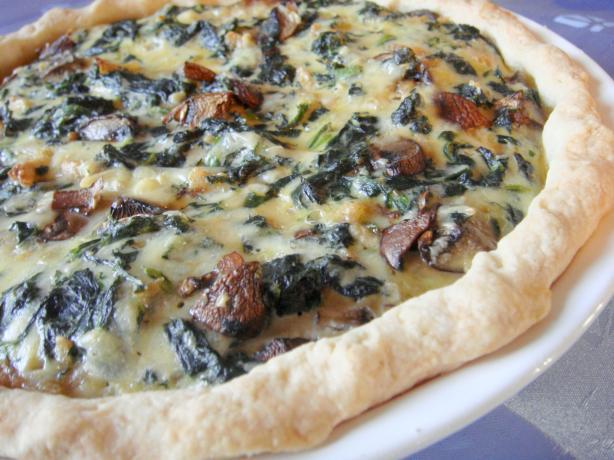 Spinach Mushroom Quiche. Photo by Lori Mama