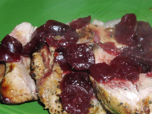 Pork Tenderloin With Gingered Cranberry (Or Cherry) Sauce (5 Pt. Photo ...