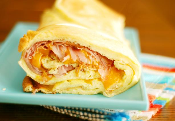 Baked Ham and Cheese Omelet Roll. Photo by Dine & Dish