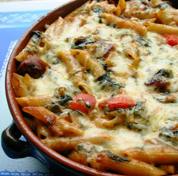Italian Pasta Bake Recipe: Make Ahead Italian Sausage And Pasta Bake Recipe