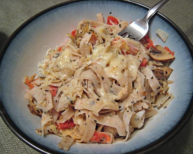 Garlic Crab Pasta With Mushroom And Tomato- Reduced Fat Recipe - Food ...