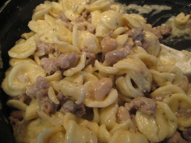 Orecchiette With Sausage, Beans, and Mascarpone. Photo by Tropical ...