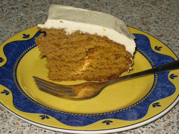 Pumpkin Spice Cake With Honey Frosting. Photo by grapefruit