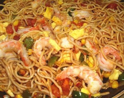 Singapore Fried Noodles. Photo by Karen Elizabeth