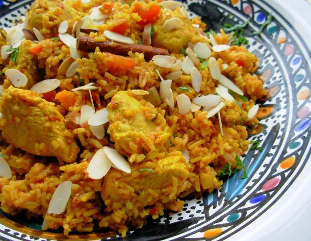 Kashmiri chicken cardamom and saffron pilau spiced - Kashmir indian cuisine ...