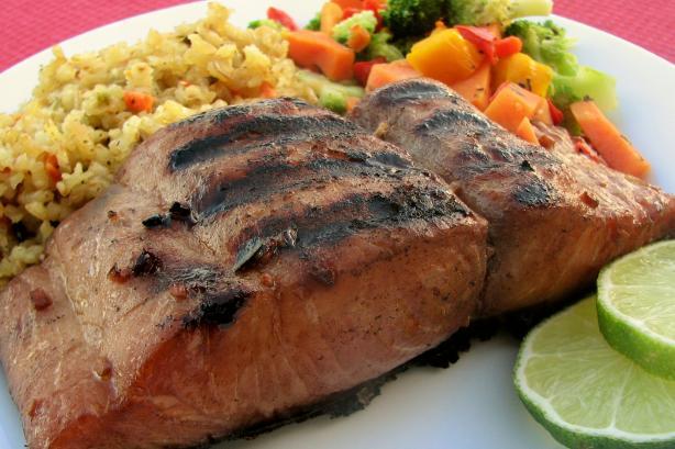 Beks grilled mahi mahi fillets in soy ginger marinade oamc for How to cook mahi mahi fish